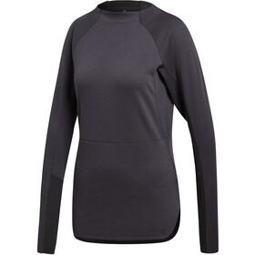 adidas TERREX Climb The City Sweat-shirt manches longues à col ras-du-cou Femme, carbon